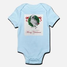 african grey christmas Infant Bodysuit