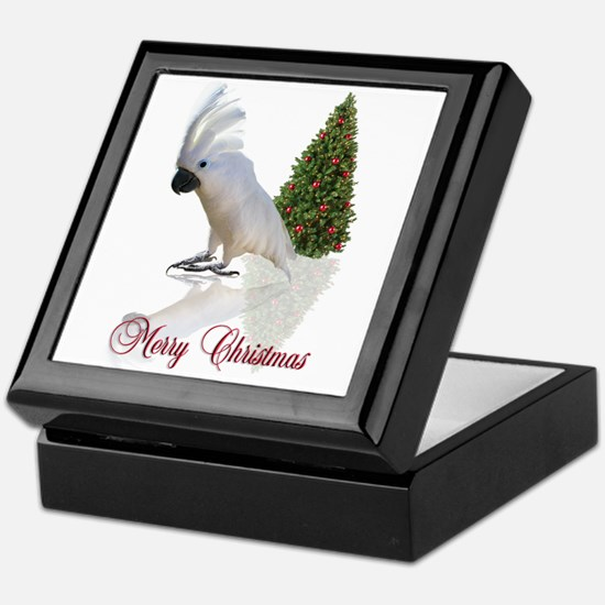cockatoo christmas Keepsake Box