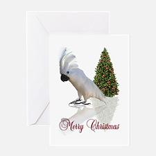cockatoo christmas Greeting Card