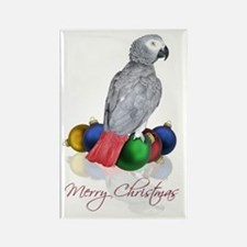 african grey christmas Rectangle Magnet