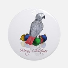 african grey christmas Ornament (Round)