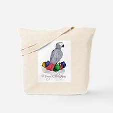 african grey christmas Tote Bag