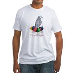 african grey christmas Fitted T-Shirt