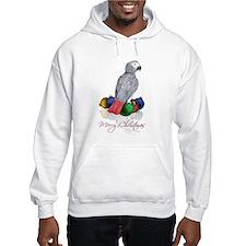 african grey christmas Hoodie