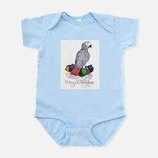 african grey christmas Infant Bodysuit