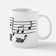 Black Kitty Notes Mug
