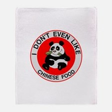 I Hate Chinese Food Throw Blanket