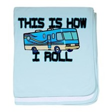 How I Roll RV baby blanket