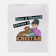 Once A Cheetah Throw Blanket