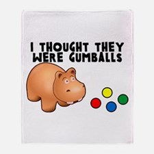 Hippo Gumballs Throw Blanket