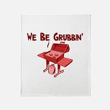 We Be Grubbin Throw Blanket
