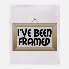 I've Been Framed Throw Blanket