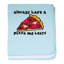 Pizza My Heart baby blanket