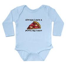 Pizza My Heart Long Sleeve Infant Bodysuit