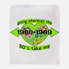 Going With The 80's Throw Blanket