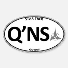 Qo'noS White Oval Sticker (Oval)