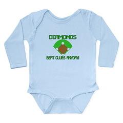 Diamonds Beat Clubs Long Sleeve Infant Bodysuit