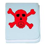 Peace Skull baby blanket