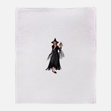 Witch Frog Throw Blanket