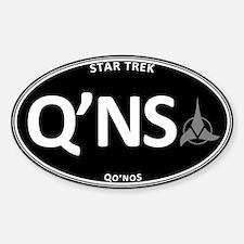 Qo'noS Black Oval Sticker (Oval)
