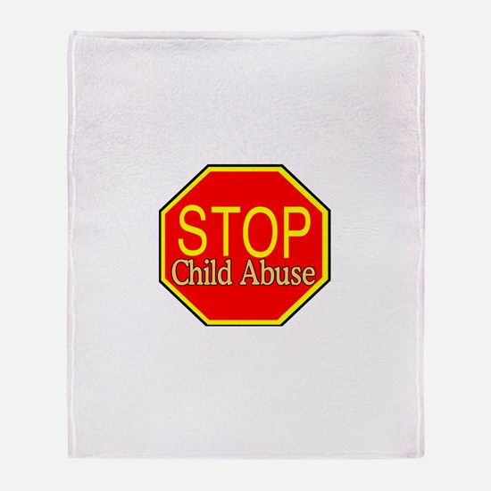 Stop Abuse Throw Blanket
