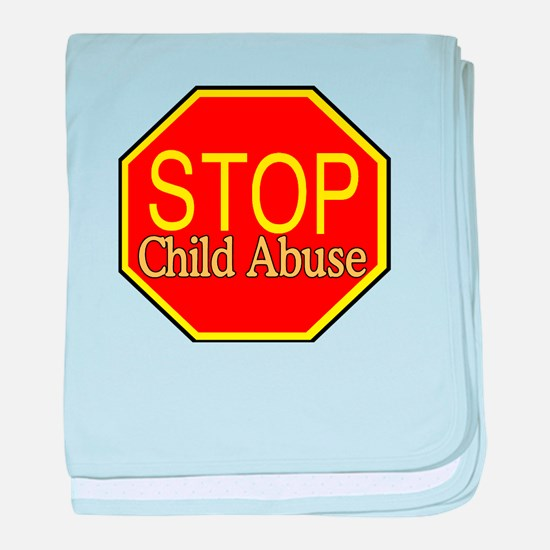 Stop Abuse baby blanket