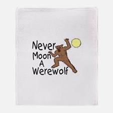 Moon A Werewolf Throw Blanket