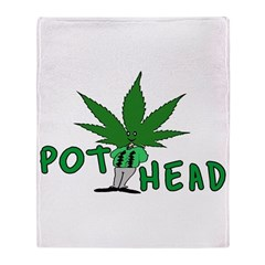 Pot Head Throw Blanket
