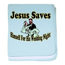 Jesus Saves baby blanket
