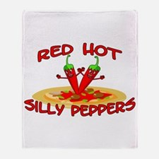 Red Hot Silly Peppers Throw Blanket