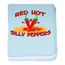 Red Hot Silly Peppers baby blanket