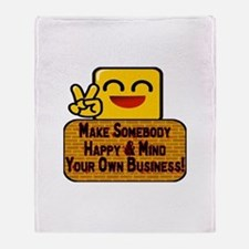 Mind Your Business Throw Blanket