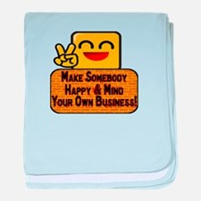 Mind Your Business baby blanket