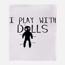 Play With Dolls Throw Blanket