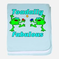 Toadally Fabulous baby blanket