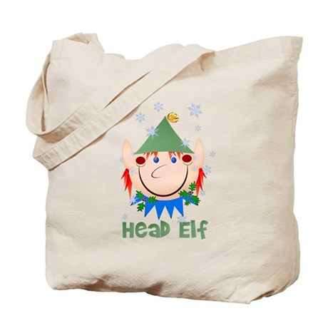 Head Elf Tote Bag