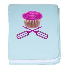 Cupcake and Crossbeaters baby blanket