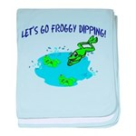 Froggy Dipping baby blanket