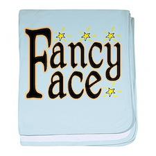 Fancy Face baby blanket