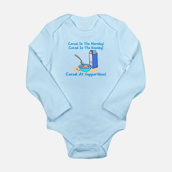 Cereal All The Time Long Sleeve Infant Bodysuit