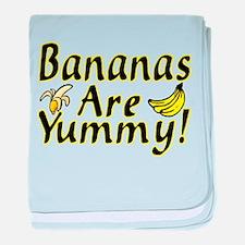 Bananas baby blanket