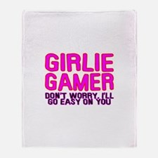 Girlie Gamer Throw Blanket