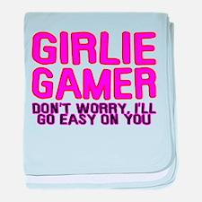 Girlie Gamer baby blanket