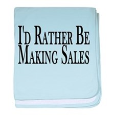 Rather Make Sales baby blanket