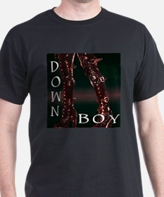 down boy Black T-Shirt