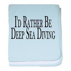 Rather Deep Sea Dive baby blanket