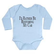 Rather Restore Car Long Sleeve Infant Bodysuit