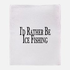 Rather Ice Fish Throw Blanket