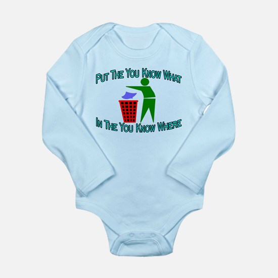 You Know Where Long Sleeve Infant Bodysuit