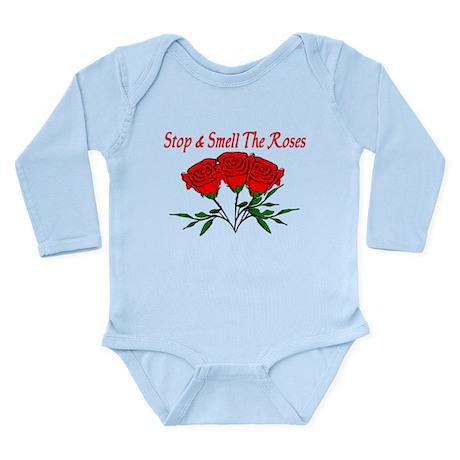 Smell The Roses Long Sleeve Infant Bodysuit